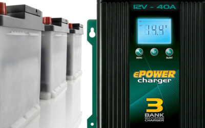 Recharge a Second or Third Battery with ePOWER Battery Charger.