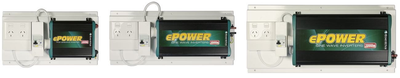 ePOWER Inverters mounted with RCD kit.