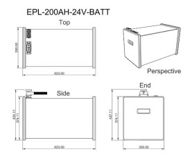 200Ah 24V Lithium Battery Dimensions