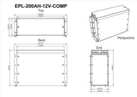 200Ah Compact Lithium Battery Dimensions