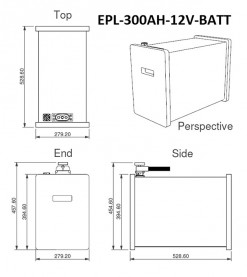 300Ah Lithium Battery Dimensions