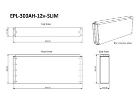 300Ah Slim Lithium Battery Dimensions