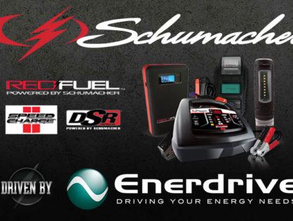 Schumacher Electric, driven by Enerdrive.