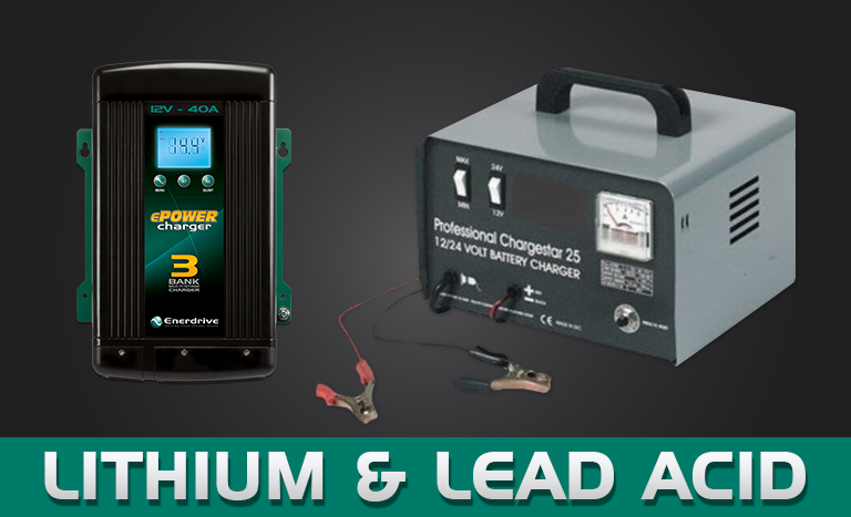 Can I charge my lithium battery with a lead acid charger?