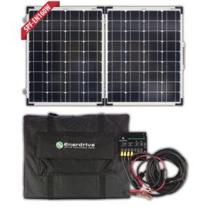 160W Folding Solar Panel Kit