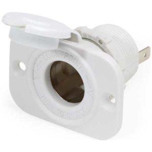 12 Volt Dash Socket - White