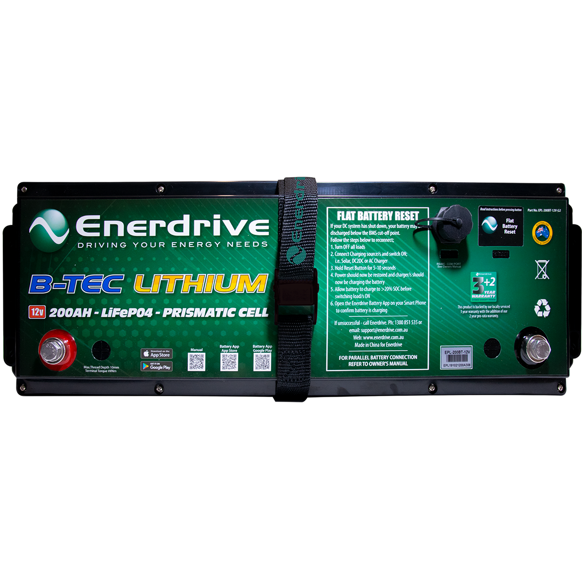 The New Generation 2 B-TEC 200Ah 12v Lithium Battery