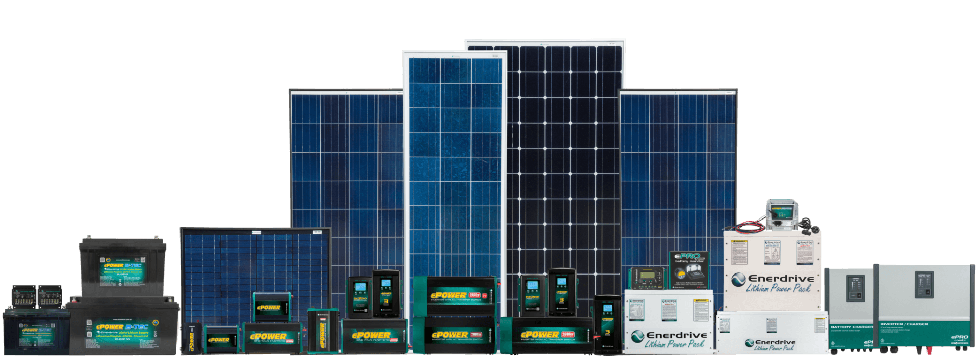 photo of Enerdrive Product Range