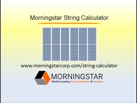 Morningstar String Sizing Calculator