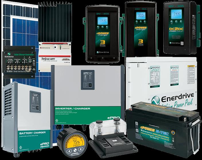 Photo of Enerdrive Lithium Product Range