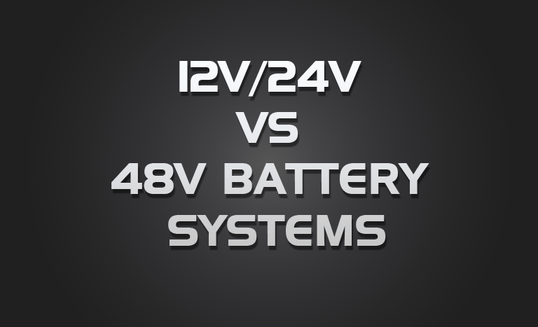48Volt Caravan Battery Systems??  The recharge issues never discussed!!!