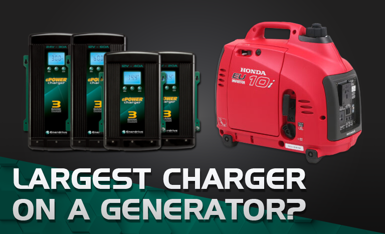 What's the largest battery charger I can run on my 1kVA generator?
